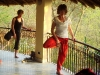 Su Sareen yoga at Basunti, India