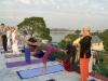 Sandra Sabatini yoga at Basunti, India