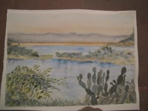 Painting Retreat, landscape - Jenny 2012