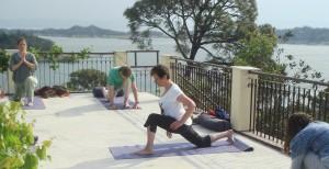 Sareen's yoga workshop, Basunti