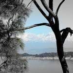 Views to the East of Basunti - snowy peaks, Himalayas
