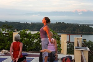 Bridget Woods Kramer yoga retreat at Basunti