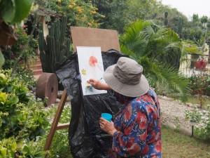 Painters retreat at Basunti