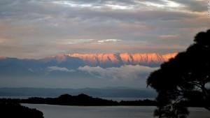 The Himalaya as seen from Basunti, India